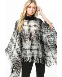 Forever 21 - Plaid Knit Poncho - Lyst