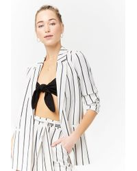 Forever 21 - Striped Open-front Blazer - Lyst