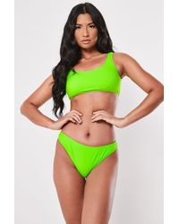 Missguided Neon Bikini Bottoms At , Lime