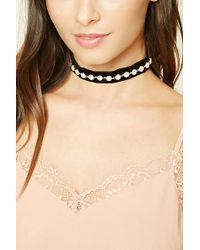 Forever 21 - Faux Pearl Studded Choker - Lyst