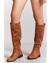 Forever 21 | Faux Suede Tall Boots | Lyst