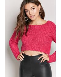 Forever 21 - Women's Fuzzy Boucle Knit Sweater - Lyst