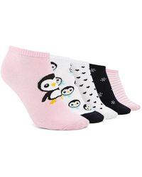 Forever 21 - Penguin Print Socks - 5 Pack - Lyst