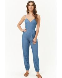 Forever 21 - Women's Chambray Cami Jumpsuit - Lyst
