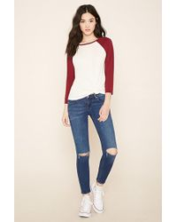 Forever 21 - Ankle Skinny Jeans - Lyst