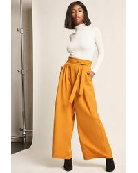 Forever 21 - Pleated Wide-leg Trousers - Lyst