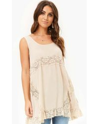Forever 21 - Lace-inset Swing Top - Lyst
