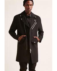 Forever 21 - Wool-blend Longline Moto Jacket - Lyst