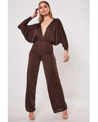 Missguided - Batwing Jumpsuit At - Lyst