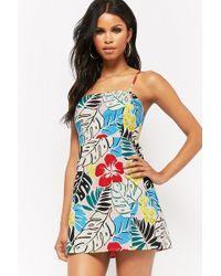 Forever 21 - Multicolor Foliage Print Mini Dress - Lyst