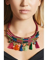 Forever 21 - Stacked Tassel Necklace - Lyst
