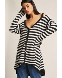 Forever 21 - Stripe High-low Cardigan - Lyst