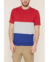 Forever 21 - Colorblocked French Terry Tee - Lyst