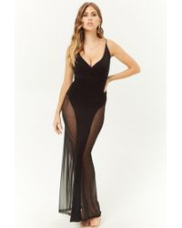 6422aed4b23 Lyst - Forever 21 Crisscross-strap Maxi Dress in Black