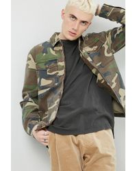 Forever 21 - Camo Zip-front Shirt - Lyst