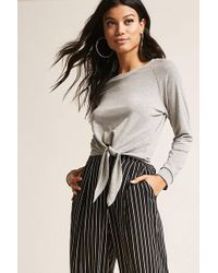 Forever 21 - Tie-front Top - Lyst