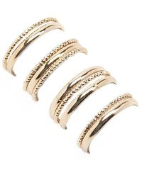 Forever 21 - Etched & Solid Ring Set - Lyst