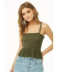 Forever 21 - Marled Smocked Cami - Lyst