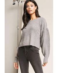 Forever 21 - Billowy Purl-knit Jumper - Lyst