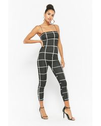 Forever 21 - Grid Print Cami Jumpsuit - Lyst