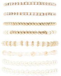 Forever 21 - Faux Pearl Stretch Bracelet Set - Lyst