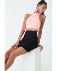 78ef05f83496 Forever 21 - Textured Ribbed Mini Skirt , Black - Lyst