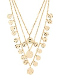 Forever 21 - Hammered Layered Necklace , Gold - Lyst