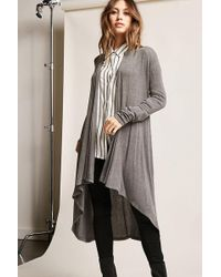 Forever 21 | Open-front Duster Cardigan | Lyst