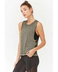 Forever 21 - Active Heathered Burnout Tank Top - Lyst