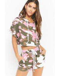 Forever 21 - Camo Print Crop Top & Shorts Set - Lyst