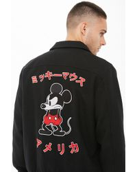 Forever 21 - Mickey Mouse Coach Jacket - Lyst