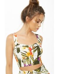 Forever 21 - Tropical Print Crop Top - Lyst