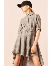 Forever 21 - Belted Plaid Shirt Dress - Lyst