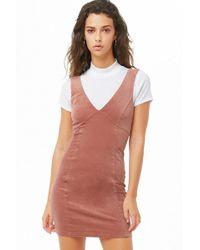 412eb8fb2dd7 Forever 21 - Women's Corduroy Empire Waist Dress - Lyst