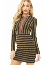 c557845277 Lyst - Forever 21 Sheer Mesh Sequin Fringe Halter Dress