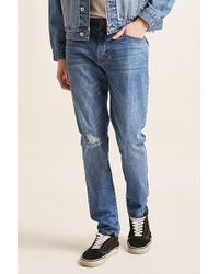 Forever 21 - Distressed-knee Skinny Jeans - Lyst