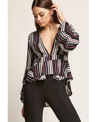 Forever 21 - Stripe Pickup Sleeve Top - Lyst