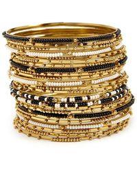Forever 21 - Women's Beaded Bangle Bracelet Set - Lyst