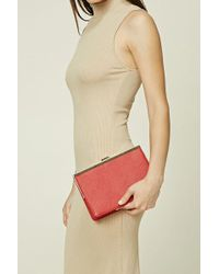 Forever 21 - Structured Faux Leather Clutch - Lyst