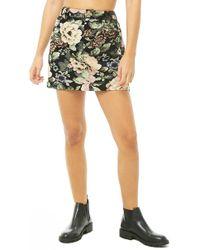 Forever 21 - Women's Floral Jacquard Mini Skirt - Lyst