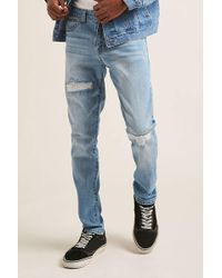 Forever 21 - Distressed Skinny Jeans - Lyst