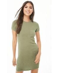 Forever 21 - Brushed Knit T-shirt Dress - Lyst