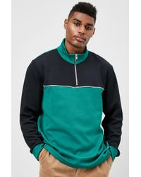Forever 21 - Colorblock Half-zip Pullover - Lyst