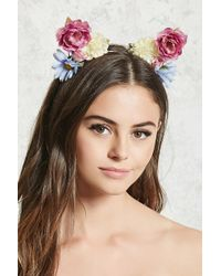 Forever 21 - Floral Headband - Lyst