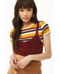Forever 21 - Fuzzy Sweater-knit Top - Lyst
