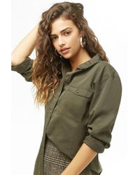 Forever 21 - Button Front Shirt - Lyst