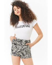 Forever 21 - Foliage Print Cuffed Shorts - Lyst