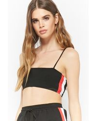 Forever 21 - Striped Cami Crop Top - Lyst