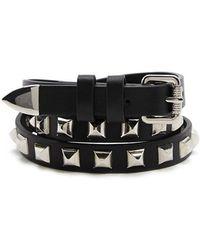 Forever 21 - Studded Skinny Belt - Lyst