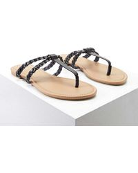 Forever 21 - Braided Faux Leather Sandals - Lyst